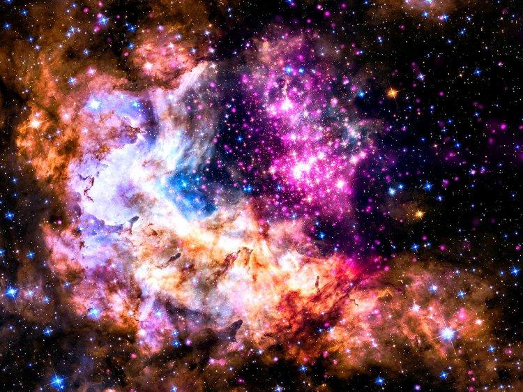 Westerlund 2 लगभग 1-2 मिलियन वर्ष पुराने युवा सितारों का एक समूह